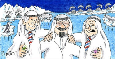Bush and Cheney with King Abdullah In Artic